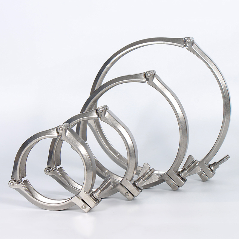 304 stainless steel KF vacuum three section clamp clamp clamp fixing hoop core bracket sealing ring