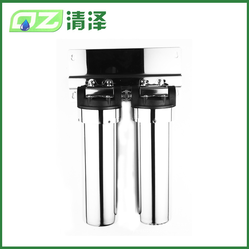 QINGZE Cylinder 304 stainless steel water purifier 400L Yuyao secondary self washing water purifier