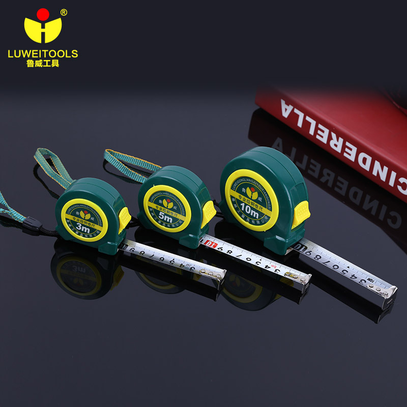 LUWEI Hardware tools stainless steel tape measure 5 meter measuring tool industrial ABS anti falling