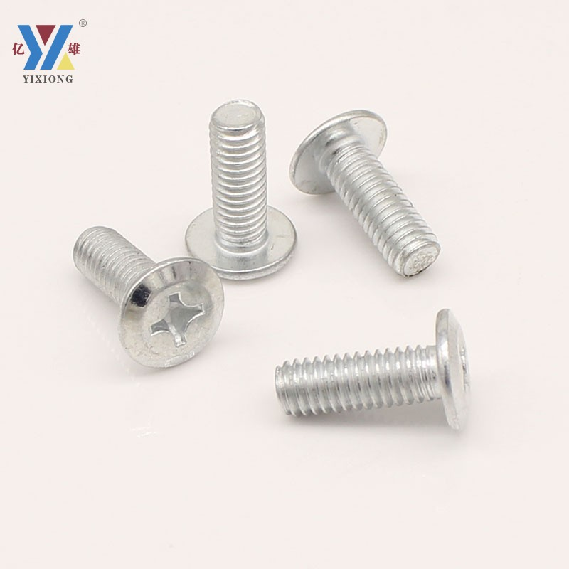 Yixiong white zinc plated flat head chamfered cross inverted edge screw furniture screw m5m6m8