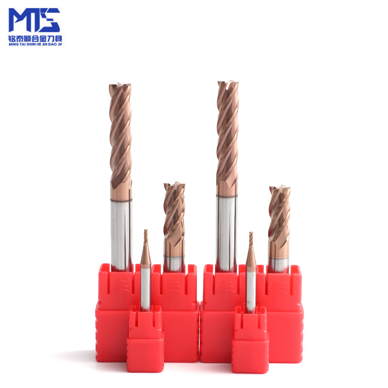 MINGTAISHUN NC tool steel parts of carbide 55 ° four edge tungsten steel end mill