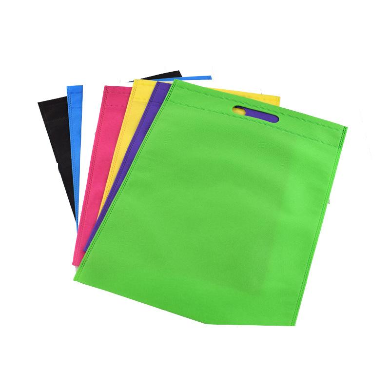 Non woven flat bag education training customized publicity portable stereo customized environmental