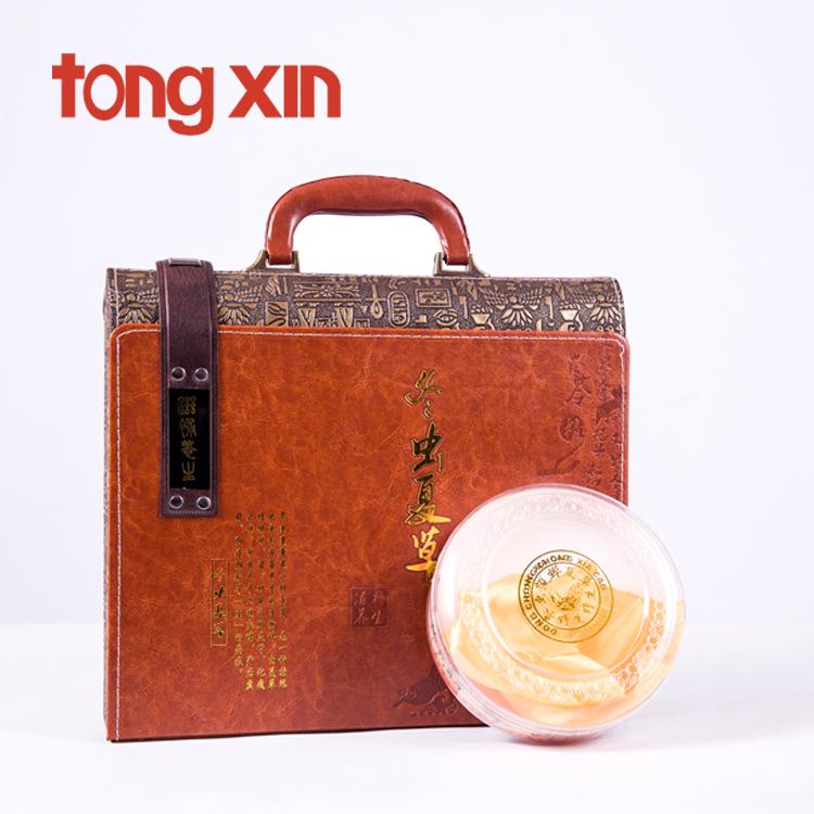 TONGXIN Cordyceps packaging box gift box Cordyceps gift box leather box single branch pipe Cordyceps