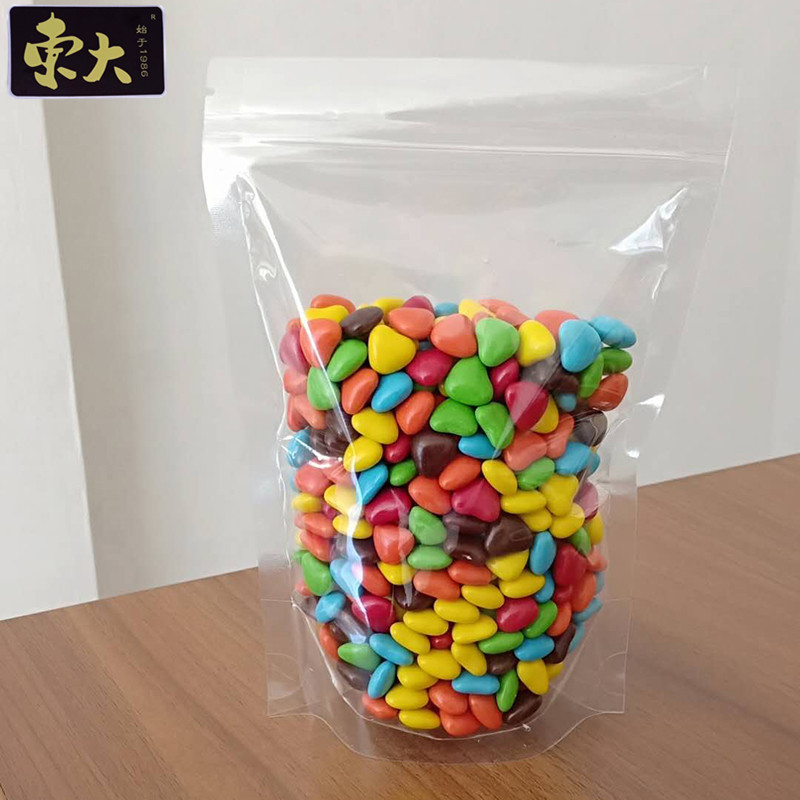 Packaging bags for dried fruits and snacks, self sealing bags, candy transparent biscuits, plastic f