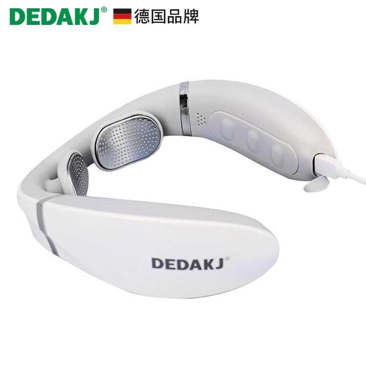 Dedakj intelligent neck massage instrument neck protector shoulder neck massage hot compress cervica