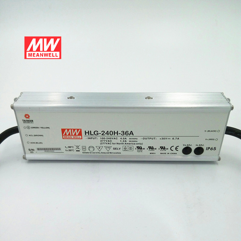 MEAN WELL Taiwan Mingwei hlg-240h-36a 240W 36v6.7a waterproof constant current LED power supply