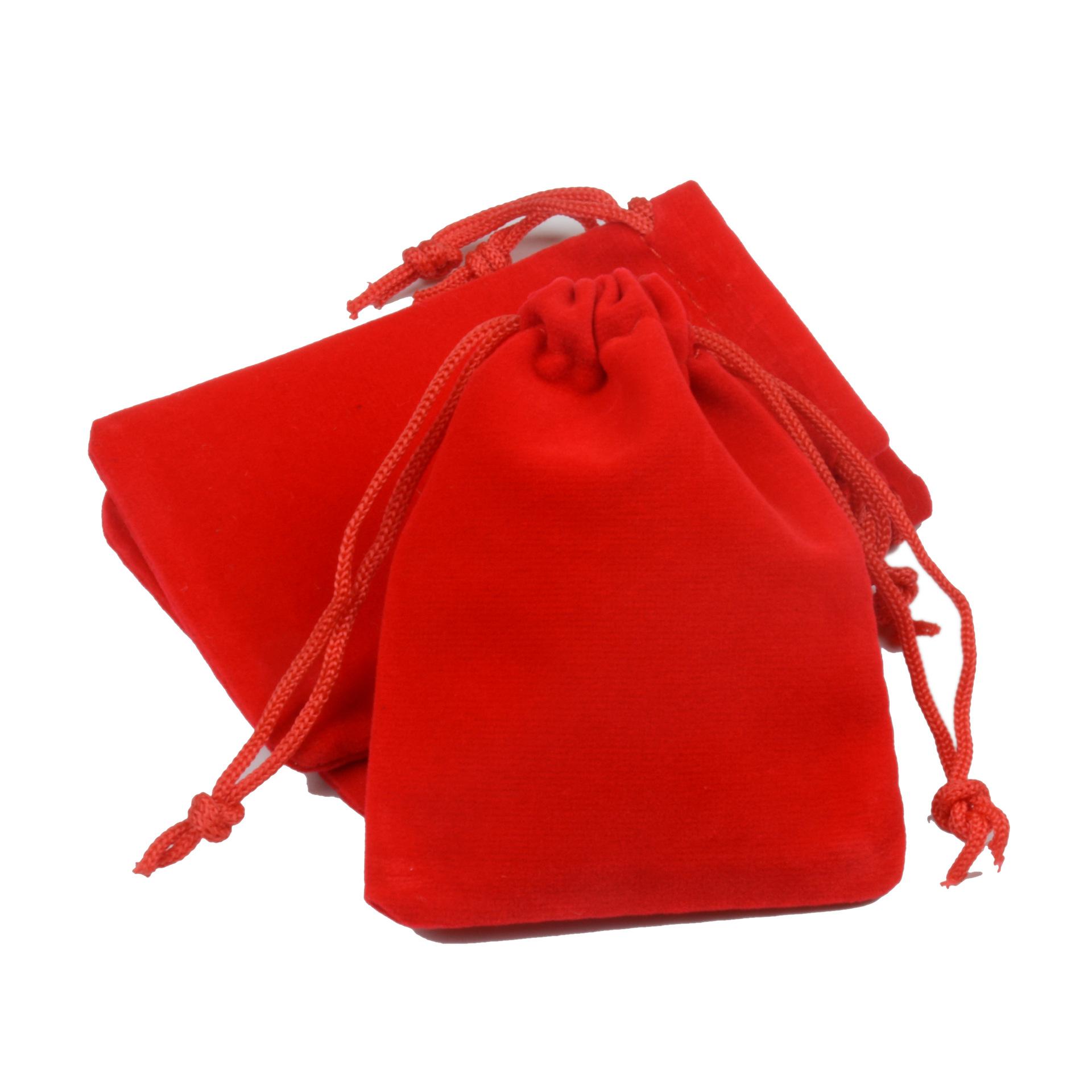 LANWAYLUCKY Jewelry velvet cloth bag velvet gift bundle mouth velvet bag black velvet environmental