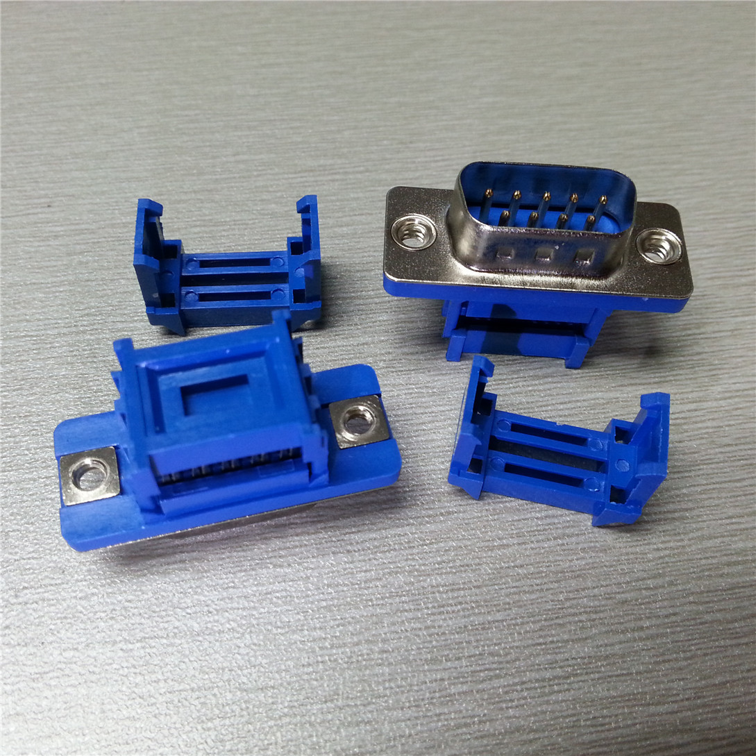 ULINGCONN DB9 serial port DB9 solderless joint youliankang blue d-sub9pin press type male connector