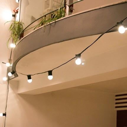 Bóng đèn LED dẫn bóng đèn lớn bóng đèn dây đèn với đường đen không thấm nước ngoài trời vườn treo kỳ