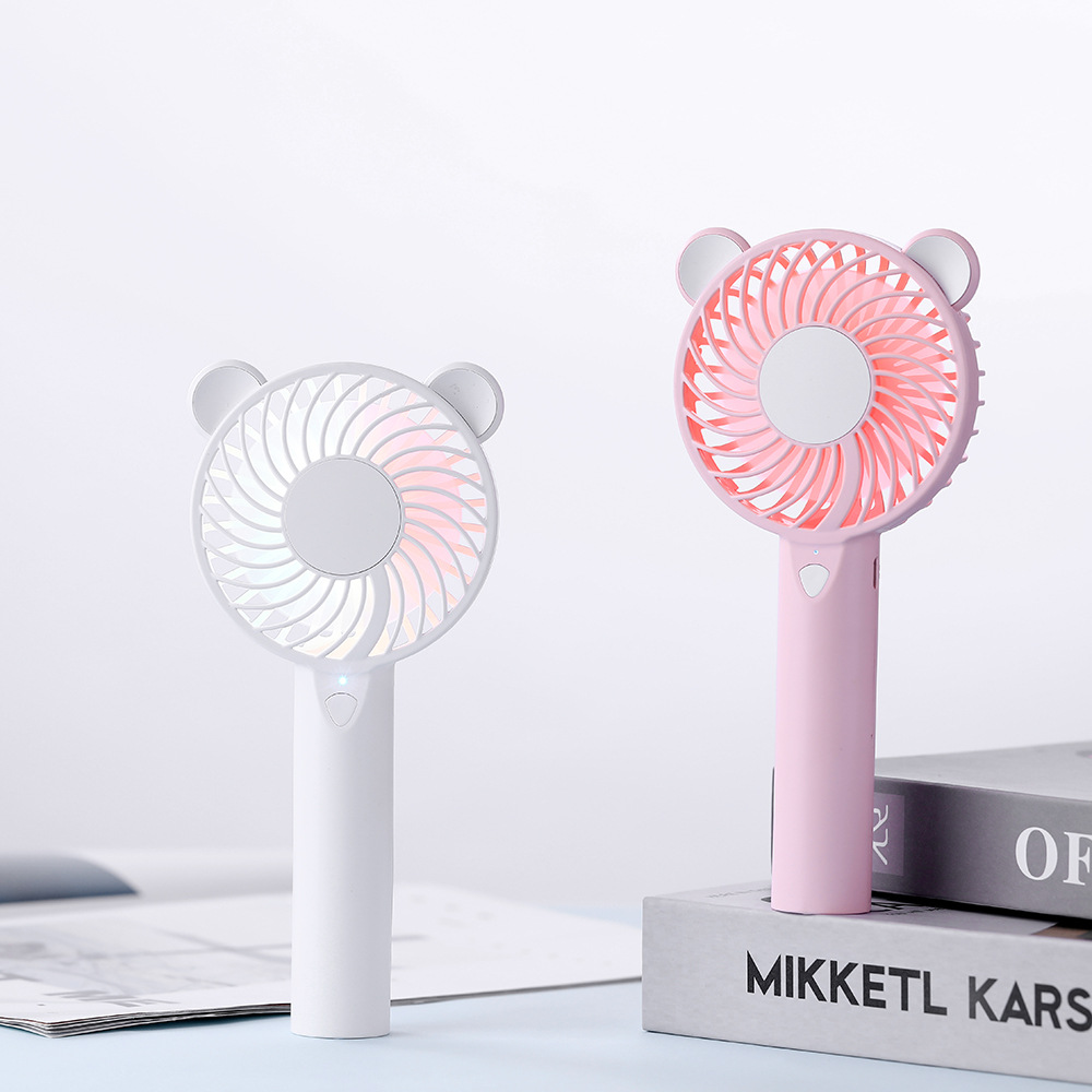 LDSG New product baby bear fan usb charging 1200 m quiet sound summer colorful night light portable
