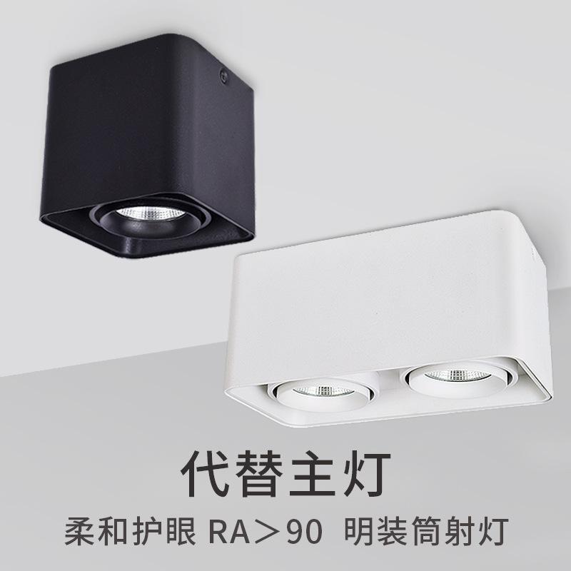 XINGKEPAI LED surface mounted downlight square cob gall lamp single head double head double tube Nor