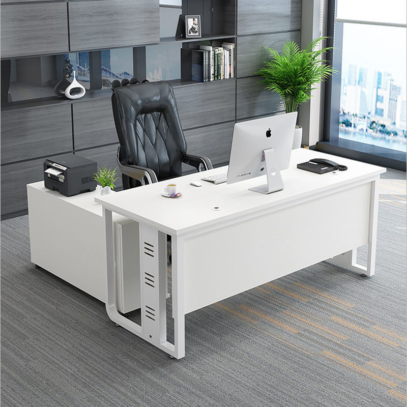 Boss desk simple modern large class desk single office furniture manager in charge office desk and c