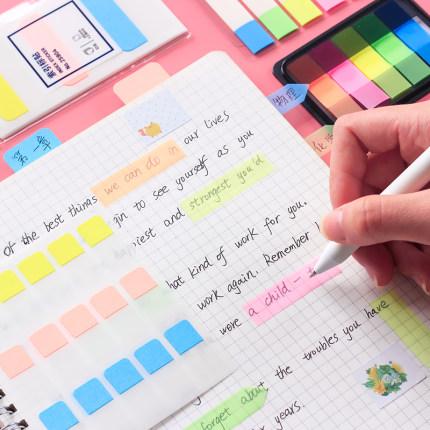 Giấy note  Màng huỳnh quang Deli cho biết số trang sổ tay thư mục nhãn nhãn dán phân loại có thể thá