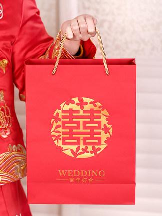 Feixun Túi giấy đựng quà cung cấp đám cưới túi kẹo cưới với quà lưu niệm phong cách Trung Quốc hộp k