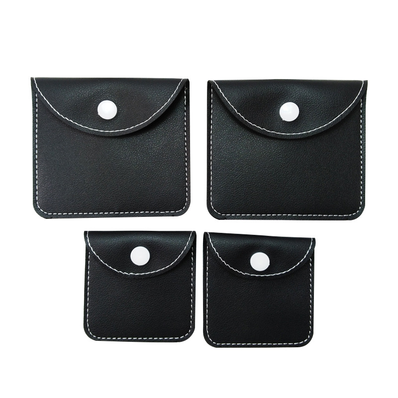 AIDESHENG Thickened PU leather earphone bag jewelry small leather bag ring leather bag