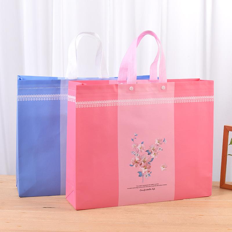 YUANXINTONG Home textile non-woven bag customized wholesale clothing packaging handbag coated non-wo