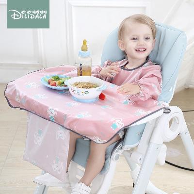 DILIDALA Áo khoác Ăn kit khay em bé bẩn một bàn ăn đệm ghế trẻ em mặc quần áo mùa thu và mùa đông ph