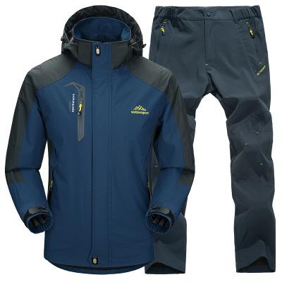 SD Quần áo leo núi Áo khoác mỏng mùa xuân và mùa thu quần phù hợp với nam ngoài trời vài thể thao bộ