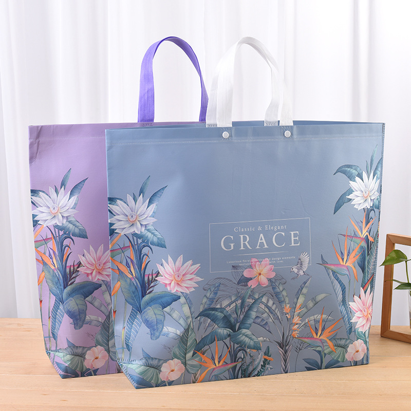 YUANXINTONG Home textile printing hand-held non-woven bag customized spot film covered three-dimensi