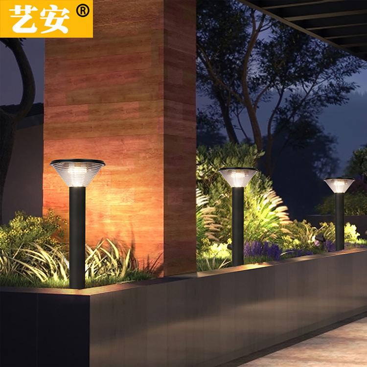 YIAN Solar LED lawn lamp, outdoor garden lamp, household street lamp, villa garden lamp, outdoor wat