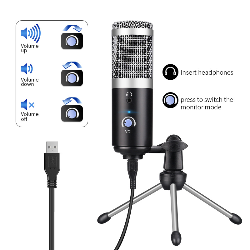 RODD USB computer microphone youtube podcast recording instrument performance live voice group chat