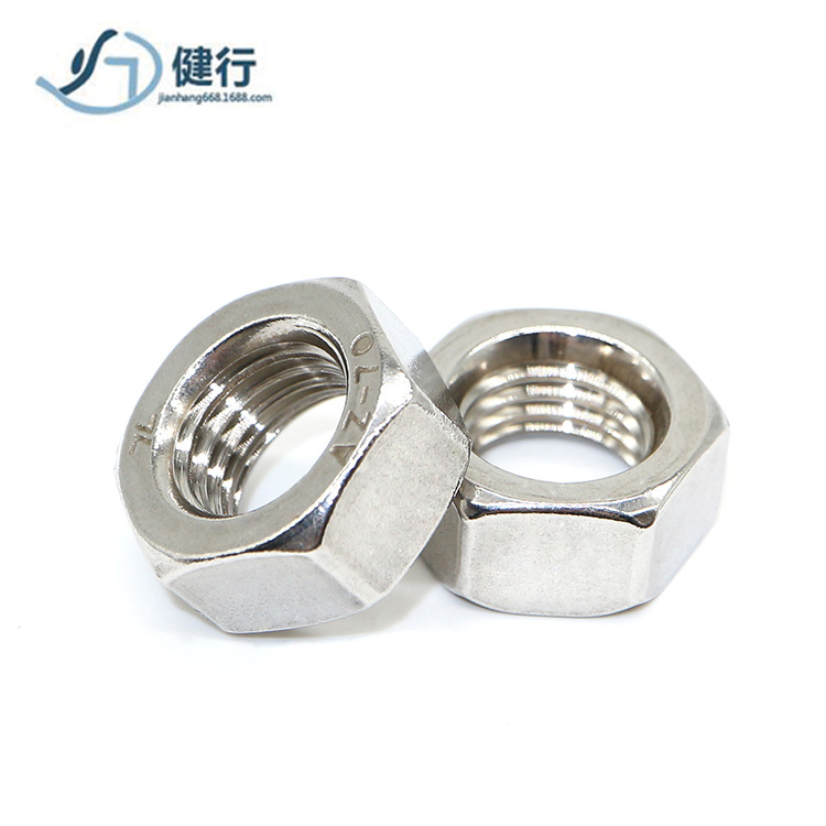 RONGYAO 201 stainless steel hexagon nut stainless steel nut m3m4m5m6m8m8m10m12m14