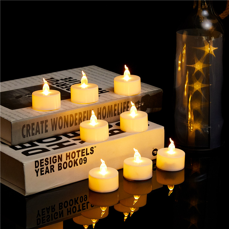 CHENGYI Transparent core tea wax LED electronic candle electronic simulation candle Christmas electr