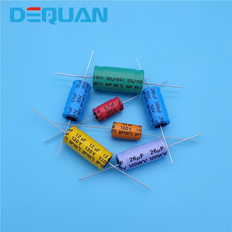 DeQuan Nonpolar electrolytic capacitor nonpolar horizontal piercing capacitor audio frequency capaci