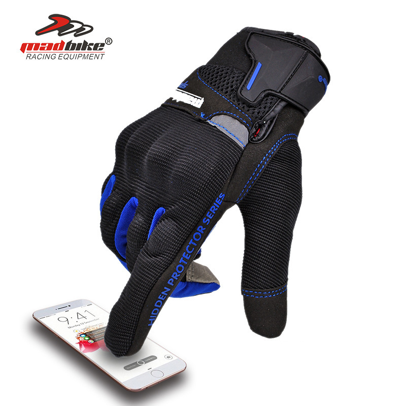 MADBIKE Summer outdoor riding gloves cross country racing motorcycle gloves touch screen full finger