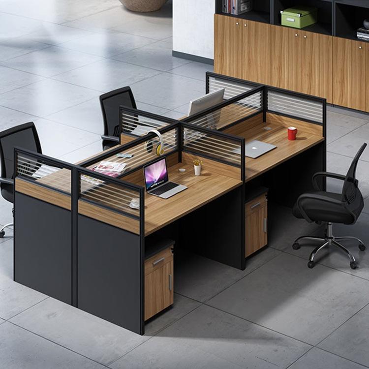 FENGHE Office furniture screen desk simple modern 2 / 4 / 6 staff desk chair combination staff card