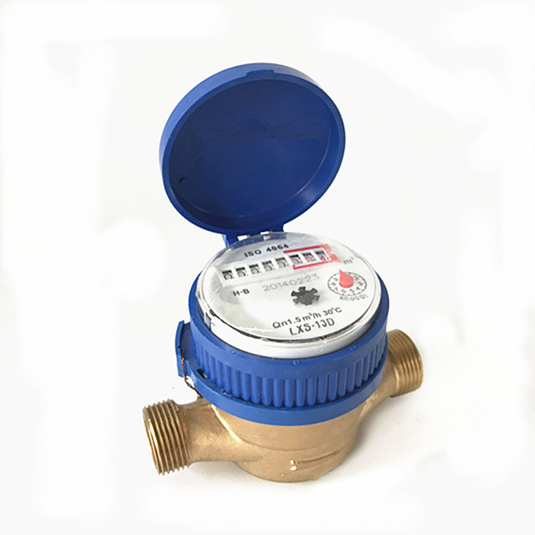 JIAJIE Lxsg-13d single flow dry type cold water meter copper shell single flow meter household outle