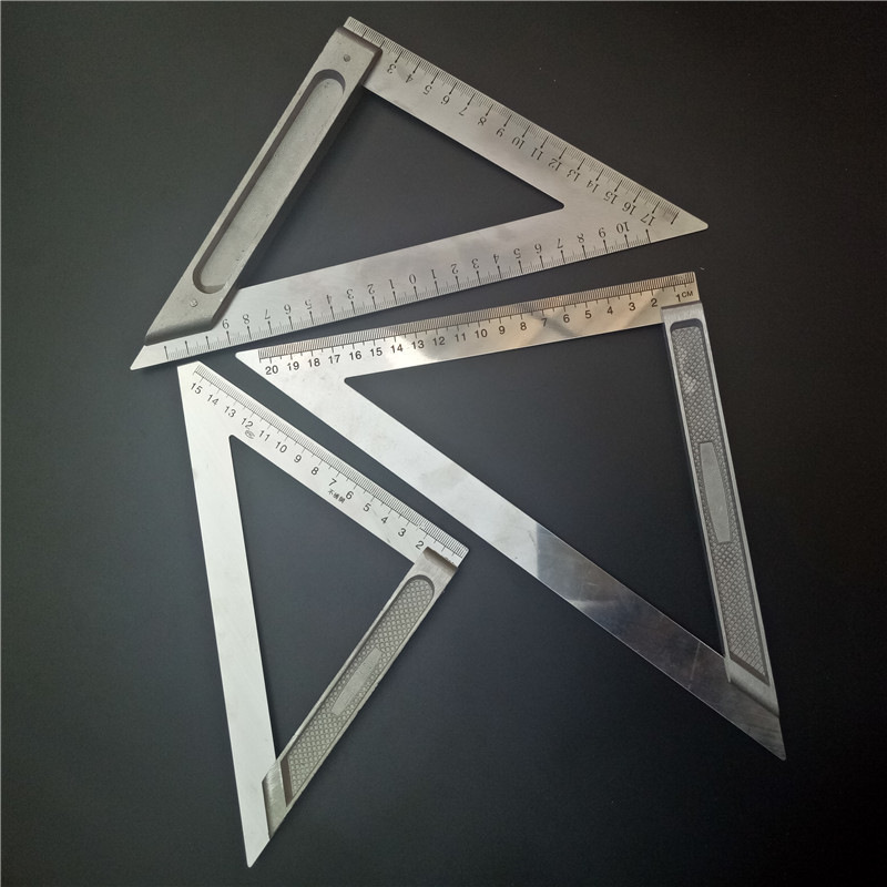 Aluminum alloy triangle ruler 45 degree square square flat carpenter's triangle ruler measuring too