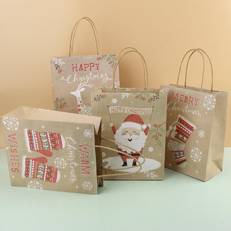 Kairui Christmas gift bag paper bag packing kraft paper bag set