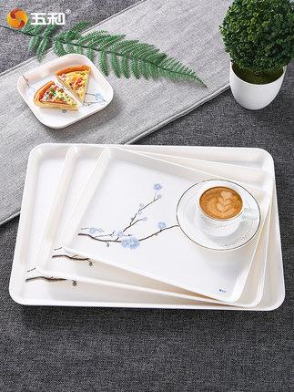 Wuhe Mâm nhựa / Pallet nhựa  Gia đình Khay đựng nước Phòng khách hình chữ nhật Khay đựng trà Khay đự