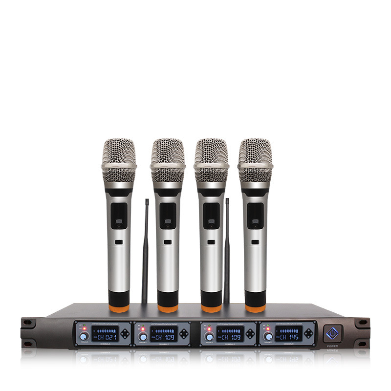 ERZHEN Professional wireless microphone u section one drag four handheld lavalier head wear conferen