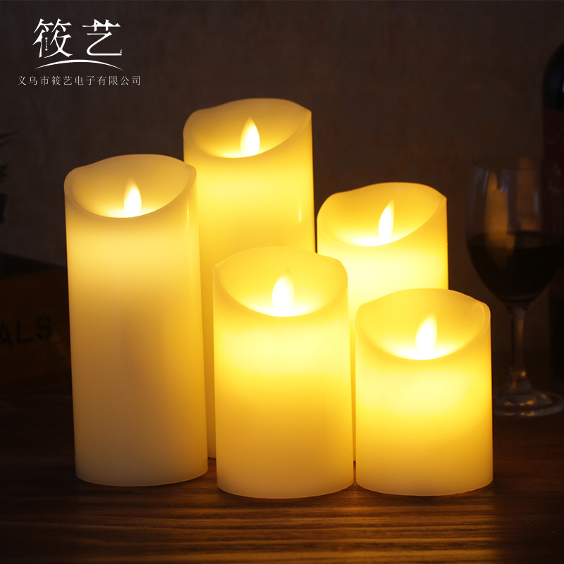 Buddhist candle led candle lamp swing Candle Wedding Decoration birthday gift