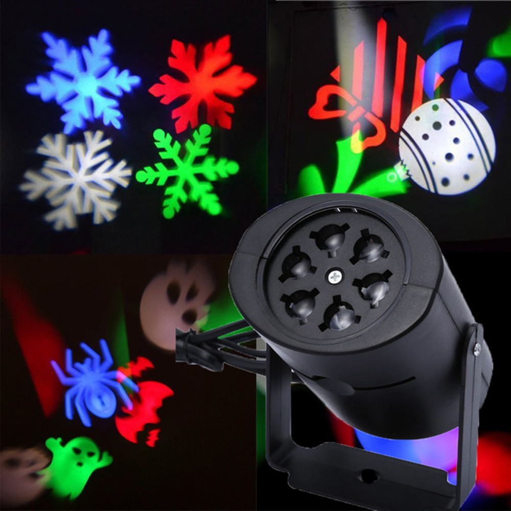 WANJINXIANG Led stage snowflake pattern rotating Christmas birthday gift love snow lamp film project