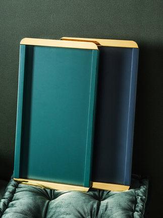 Mâm nhựa / Pallet nhựa  Bắc Âu ánh sáng sang trọng trong khay gỗ hình chữ nhật tách trà gia đình bằn
