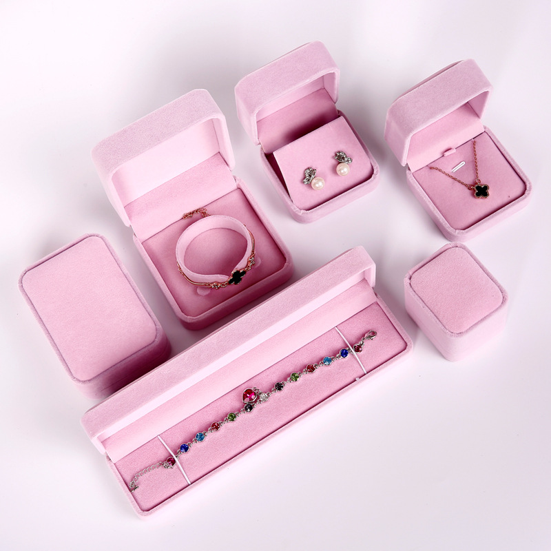 Jewelry box wholesale high-grade necklace box pendant box flannel Ring Earring Box Bracelet box jewe