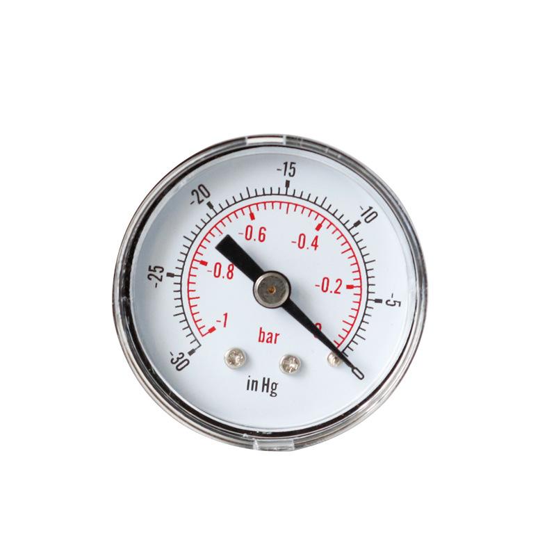 TAISHEN Y40 axial vacuum pressure gauge 0 ~ - 30inhg, 0 ~ - 1bar precision pointer barometer