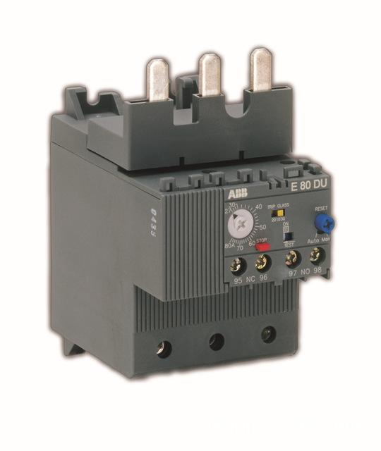 ABB e series electronic overload relay e80du 80A; 10091134