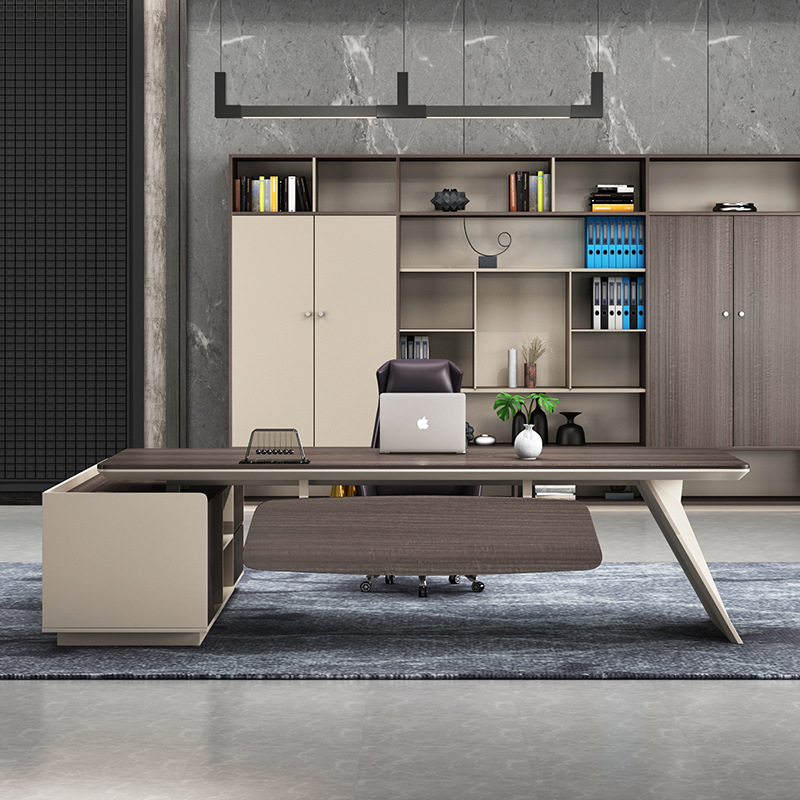 The manager is in charge of desk and chair combination and luxurious office furniture