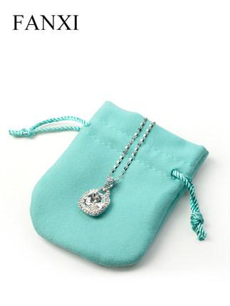 Fanxi Túi đựng trang sức  phiên bản Hàn Quốc của túi đựng đồ trang sức bằng nhung sợi nhỏ túi dây rú