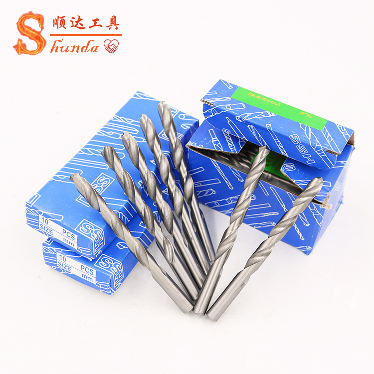 High speed steel straight shank twist drill bit for aluminum iron woodworking