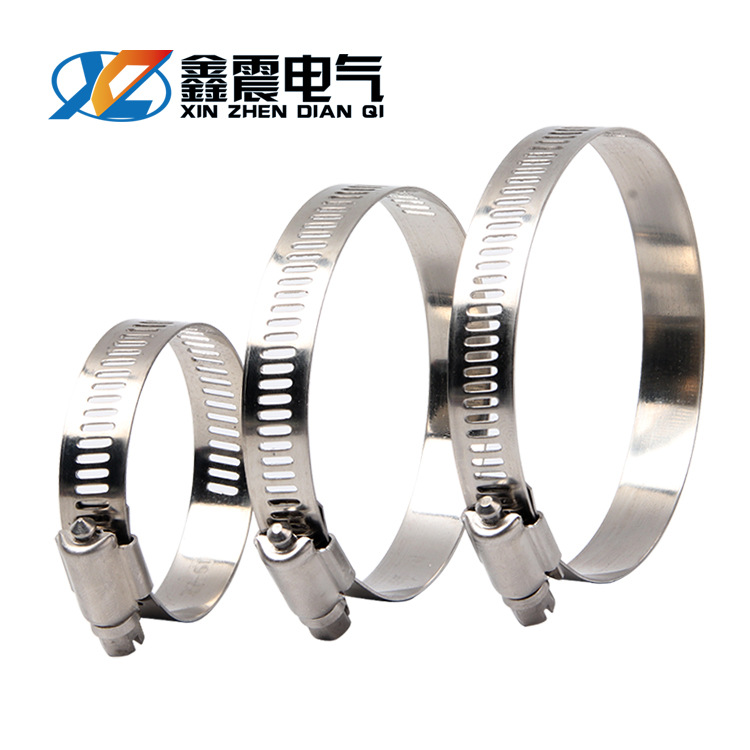 CHKL 304 stainless steel clamp pipe clamp strong American style hose hoop pipe hoop pipe clamp pipe