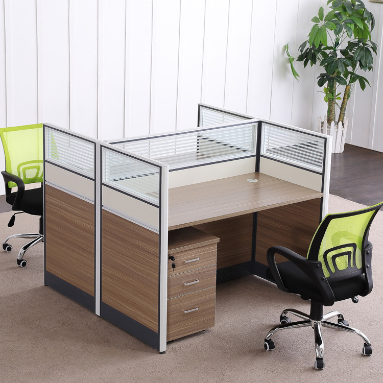 TAIHUA Screen desk 4 persons simple office furniture combination office computer desk chair partitio