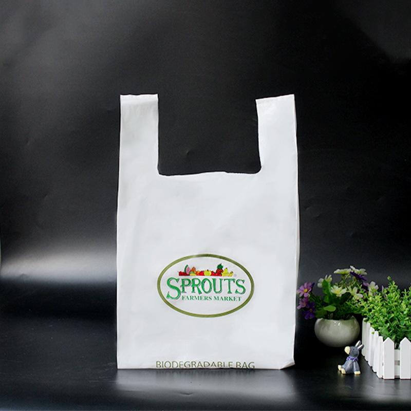 CHUANGYUAN Plastic bag custom-made brand new material white Po vest bag customized supermarket gener