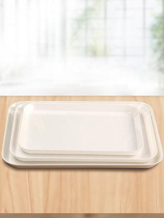 Mâm nhựa / Pallet nhựa  Khay trà melamine, khay úp chén, khay đựng trái cây bằng nhựa hình chữ nhật,