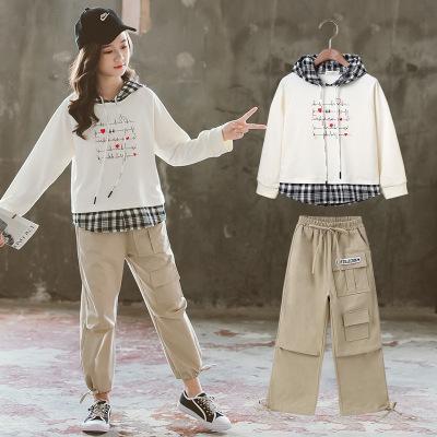 phelfish Đồ Suits trẻ em Cô gái thể thao quần áo trẻ em mặc quần áo hai mảnh mùa thu năm 2020 mới cô