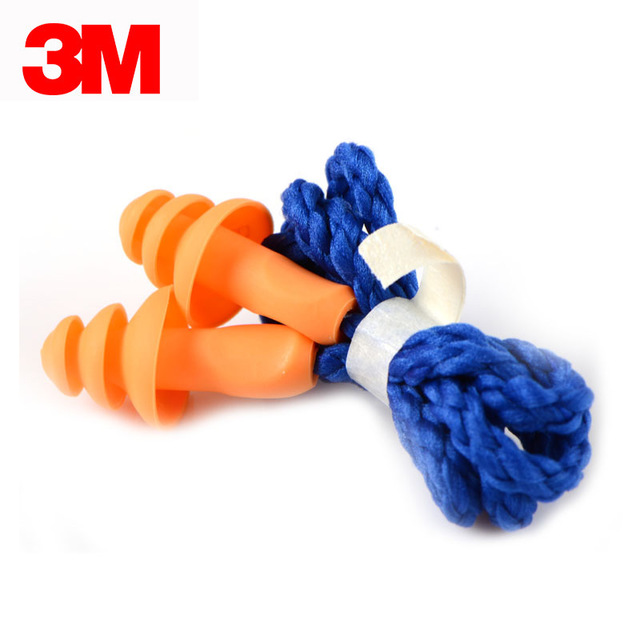 3M 1270 noise reduction and waterproof earplug anti noise swimming sleep learning belt line work lab